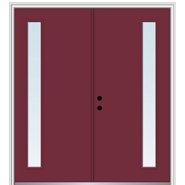 Mmi Door 64 In X 80 In Viola Right Hand Inswing 1 Lite Clear Low E Painted Fiberglass Smooth Prehung Front Door Z0345972r The Home Depot