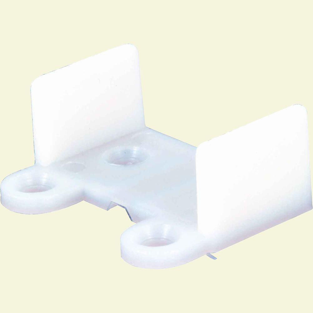 Prime Line Floor Mounted Wardrobe Door Plastic Bottom Guide N 6565