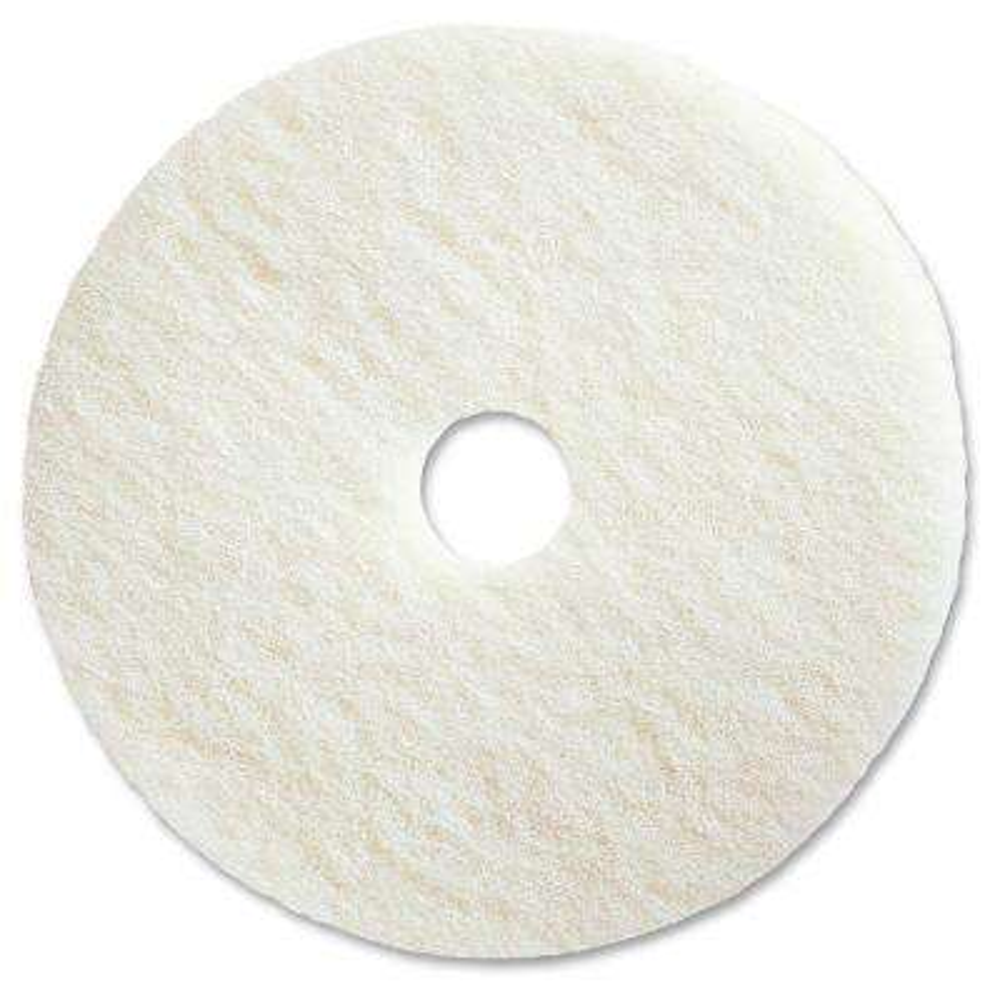 20 in. White Polishing Floor Pad (5 per Carton)