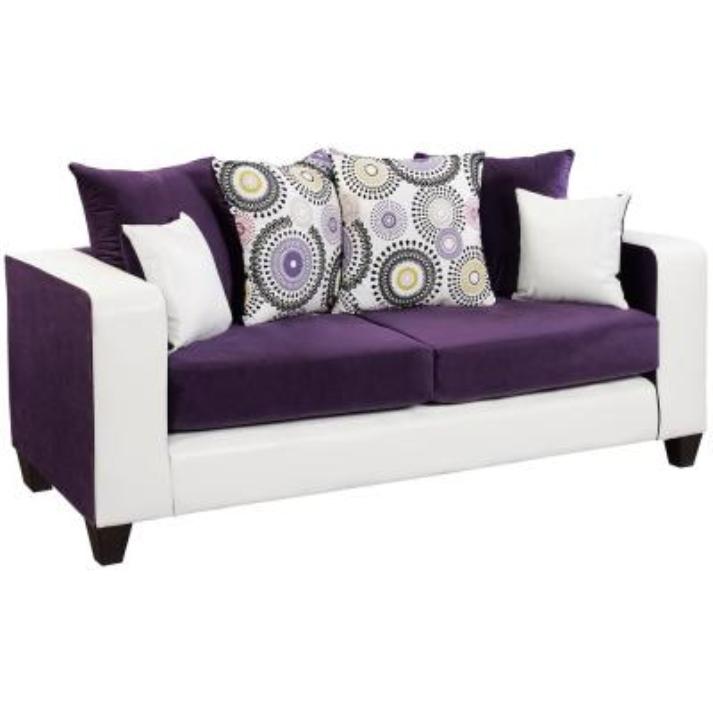 Purple - Sofas & Loveseats - Living Room Furniture - The ...