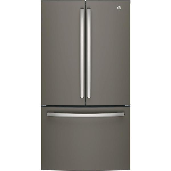 GE 27 cu. ft. French Door Refrigerator in Slate, Fingerprint Resistant and  ENERGY STAR