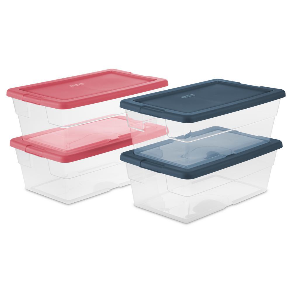 6 Qt. Storage Box (Set of 4)