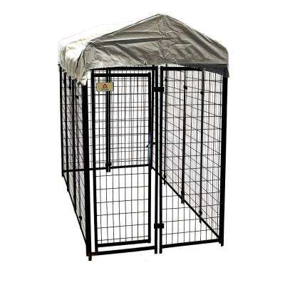 4 ft. x 8 ft. x 6 ft. Welded Wire Dog Fence Kennel Kit