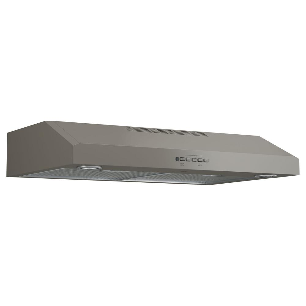 Convertible Under Cabinet Range Hood With Light In Slate, Fingerprint  Resistant