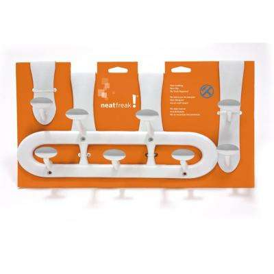 Assorted Sizes 3-Piece White Non-Slip 5 lb. Weight Capacity Over the door Hooks