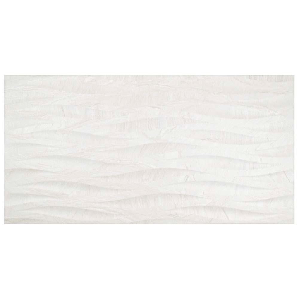 Varana Blanco Deco 12-1/2 in. x 24-5/8 in. Porcelain Wall Tile (11.01 sq. ft. / case)