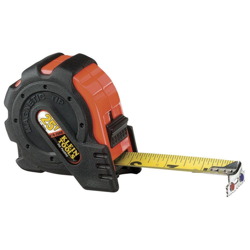 Klein Tools 25 Ft. Power-Return Rule, Magnetic Tip-DISCONTINUED