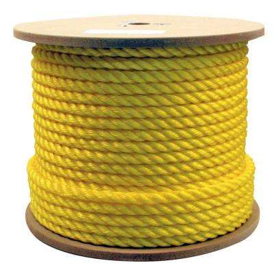5/8 in. x 300 ft. Twisted Poly Rope Yellow