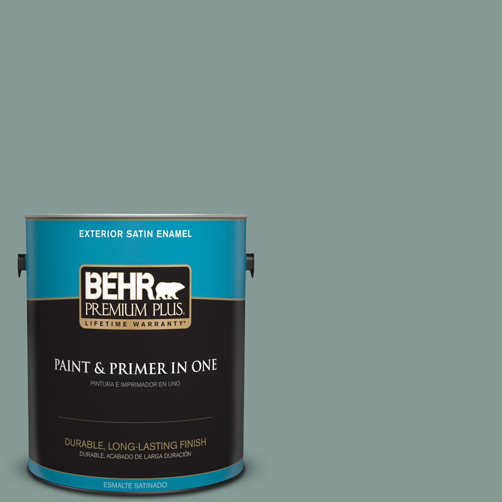 1-gal. #490F-5 Cloud Burst Satin Enamel Exterior Paint