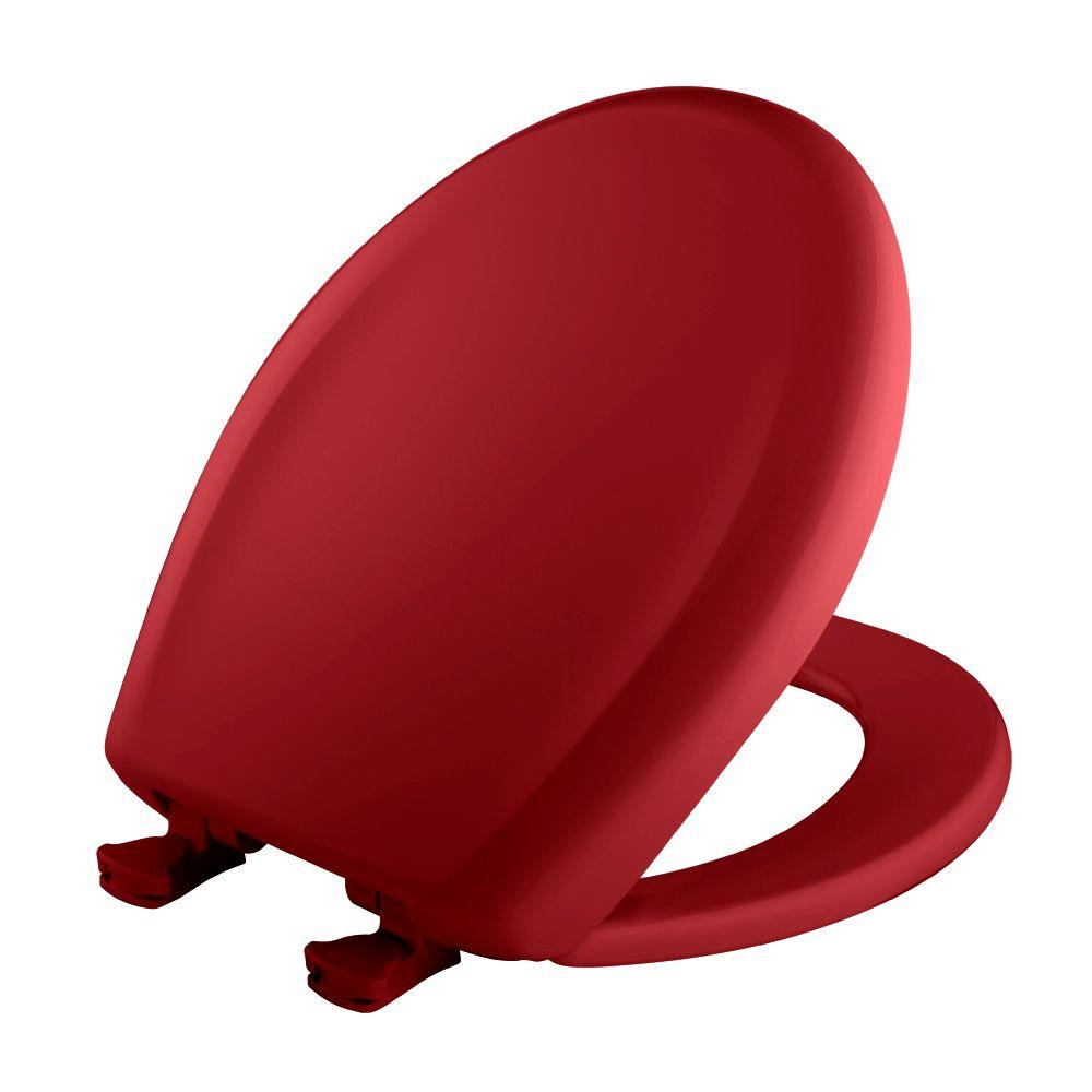 BEMIS Round Closed Front Toilet Seat in Red