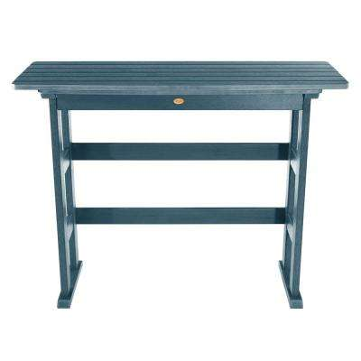 Lehigh Nantucket Blue Rectangular Recycled Plastic Outdoor Bar Height Dining Table