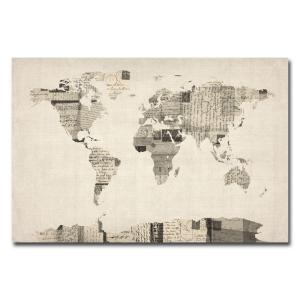 Trademark fine art 16 in x 24 in vintage postcard world map canvas vintage postcards world map canvas art gumiabroncs Image collections