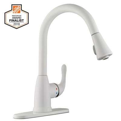 white 1 or 3 hole kitchen faucets kitchen the home depot rh homedepot com Moen Kitchen Faucet 3 Hole Kitchen Faucets 3 Hole Options