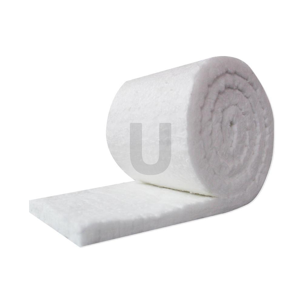 Ceramic Fiber Insulation Blanket Roll (8# Density, 2300°F) (R-Value - 2.5) (1x48x60 in.) for Kilns, Forges, Stoves