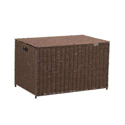 Coffee Large Wicker Storage Chest