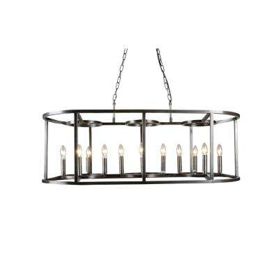 12-Light Nickel Finish Chandelier