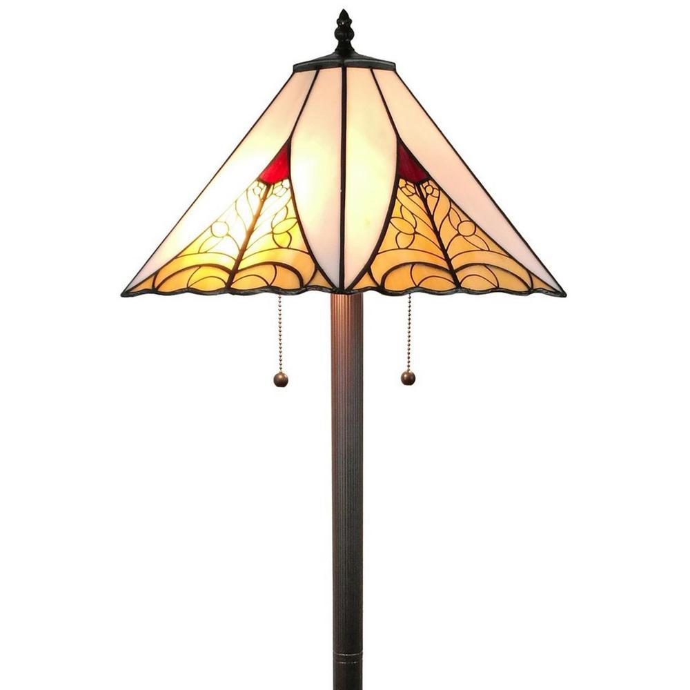 63 in. Multicolored Floor Lamp