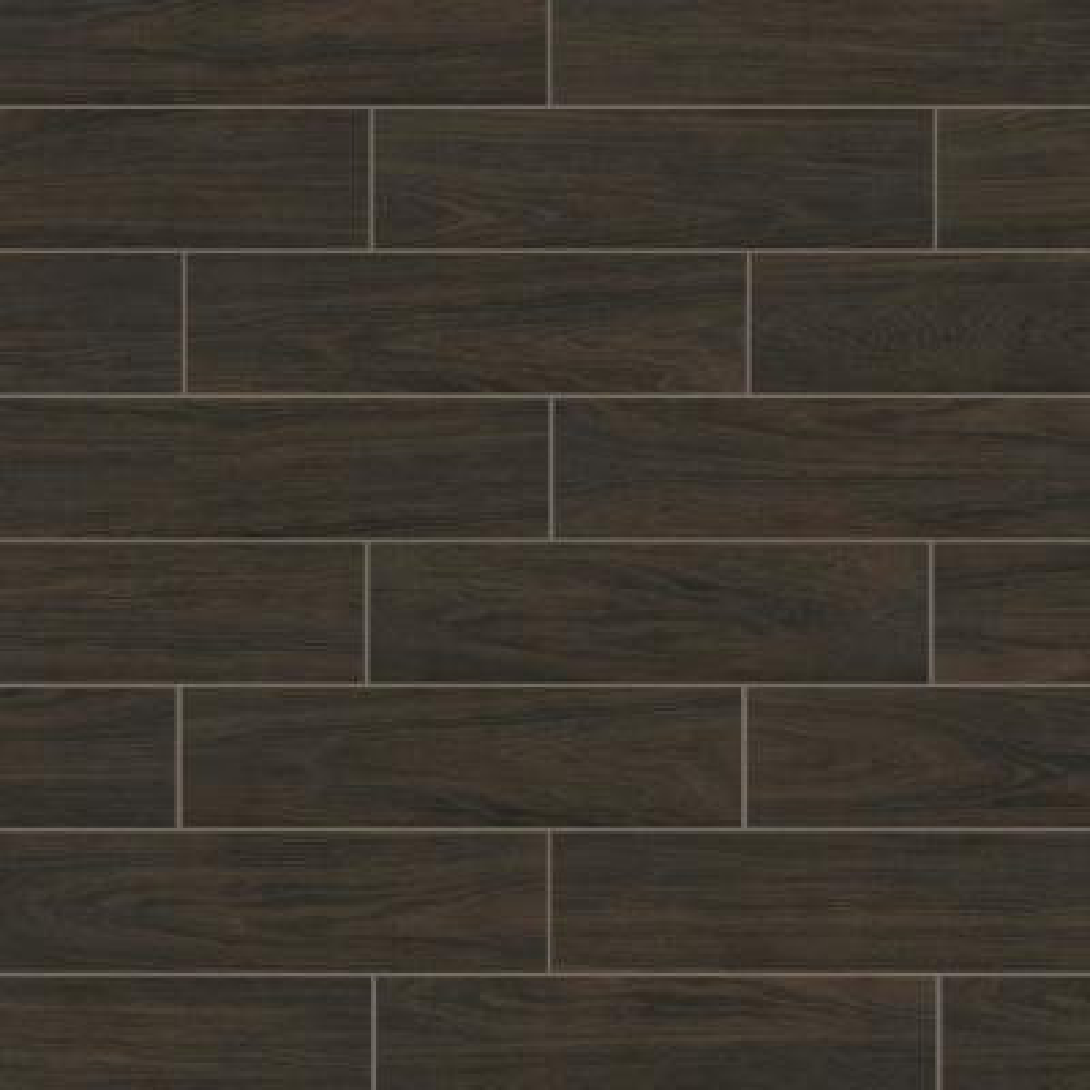 Burlington Walnut 6 in. x 24 in. Porcelain Floor and Wall Tile (14 sq. ft. / case)