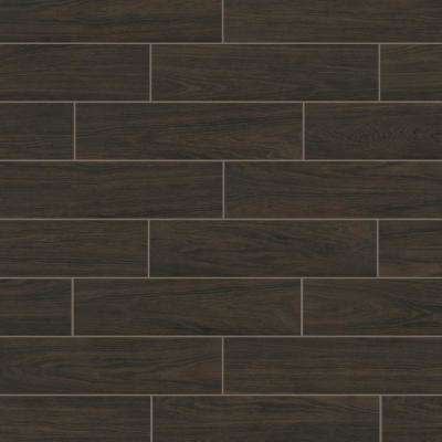 Burlington Walnut 6 in  x 24 in  Porcelain Floor and Wall Tile (14 sq  ft   / case)