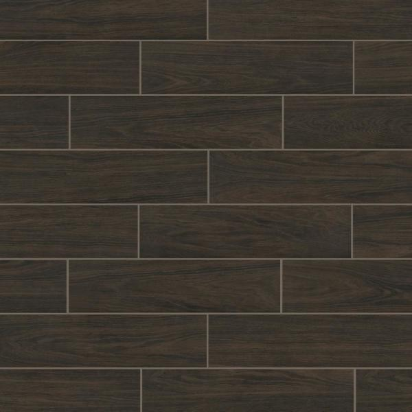 Burlington Walnut 6 in. x 24 in. Porcelain Floor and Wall Tile (14 sq. ft. / case)