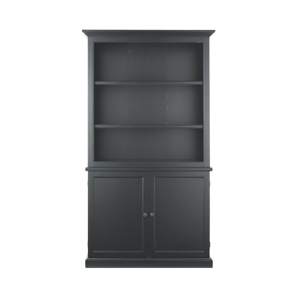 Martha Stewart Living Ingrid 41.5 in. W 3-Shelf Open Bookcase in Rubbed Black