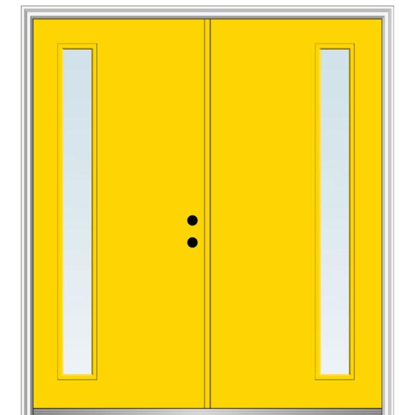 Mmi Door 72 In X 80 In Viola Right Hand Inswing 1 Lite Clear Low E Painted Fiberglass Smooth Prehung Front Door Z0345913r The Home Depot