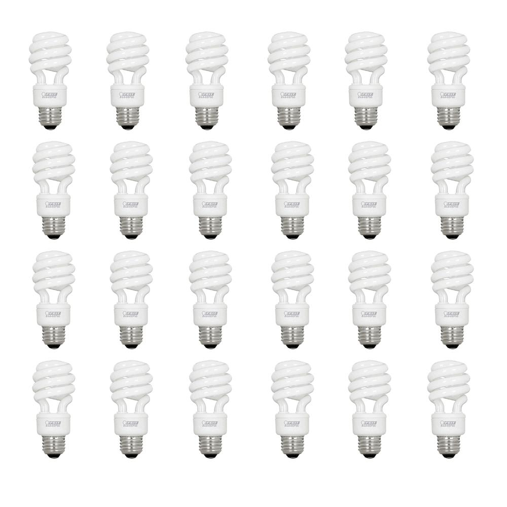 60W Equivalent Soft White (2700K) Spiral CFL Light Bulb (Case of