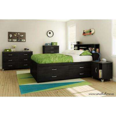 Lazer Black Onyx Full Kids Headboard