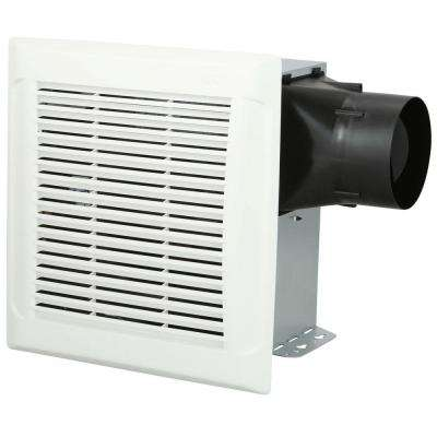 InVent Series 110 CFM Single Speed Wall/Ceiling Installation Bathroom Exhaust Fan in White