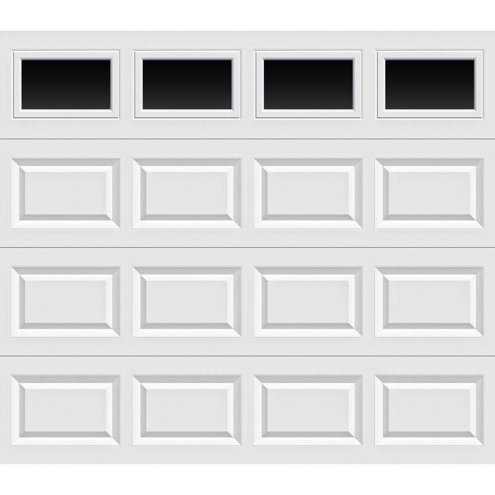 Clopay Classic Collection 8 Ft X 7 Ft Non Insulated White Garage