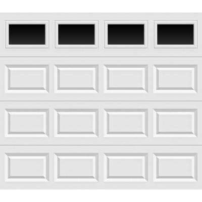 Classic Collection 8 ft. x 7 ft. Non-Insulated White Garage Door with Plain Windows