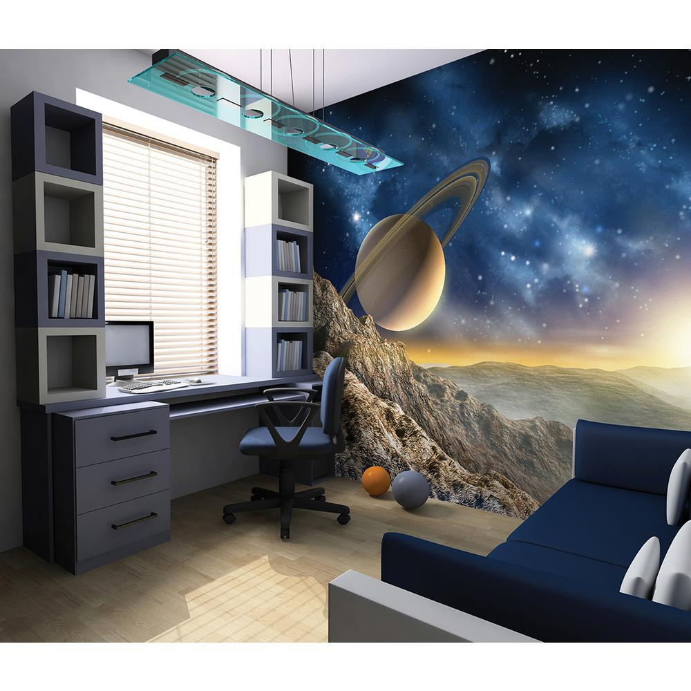 Brewster 118 in x 98 in galaxy wall mural wals0076 the for Brewster birch wall mural
