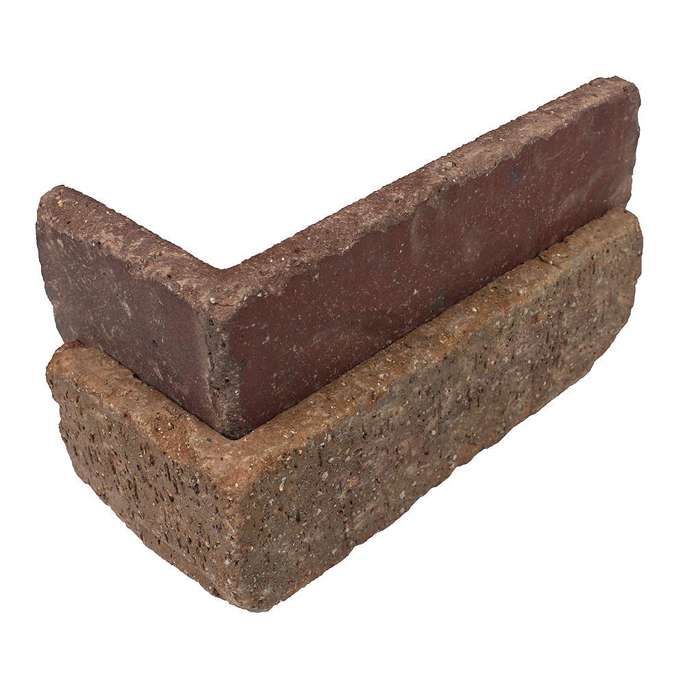 Columbia Street Thin Brick Singles - Corners (Box of 25) - 7.625 in. x 2.25 in. (5.5 lin. ft.)