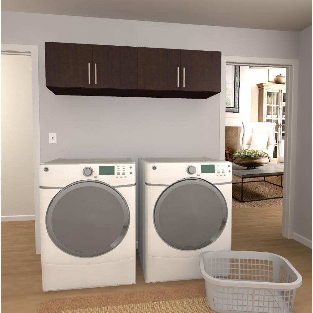 Horizon 15 in H x 60 in. W Mocha Laundry Cabinet Kit