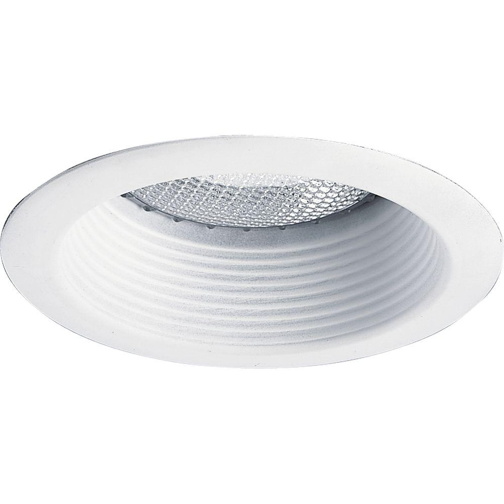 Progress Lighting 5 in. White Recessed Step Baffle Trim