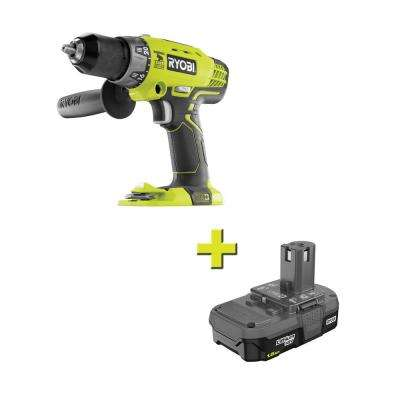 18-Volt ONE+ Cordless 1/2 in. Hammer Drill/Driver with 1.5 Ah Compact Lithium-Ion Battery