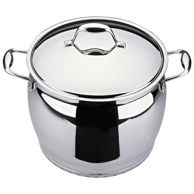 Zeno 10.6 Qt. Stainless Steel Stock Pot with Lid
