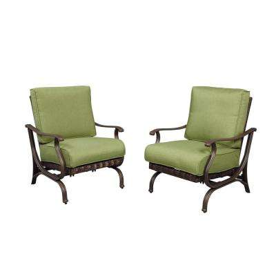 Pembrey Patio Lounge Chair with Moss Cushions (Pack of 2)