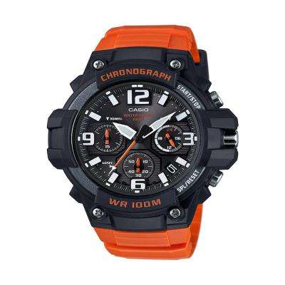 Men's Orange Chronograph Watch