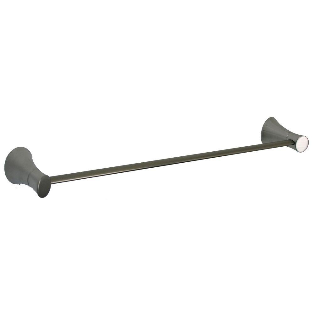 Ultra Faucets Contemporary Style 18 in. Towel Bar in Brushed Nickel