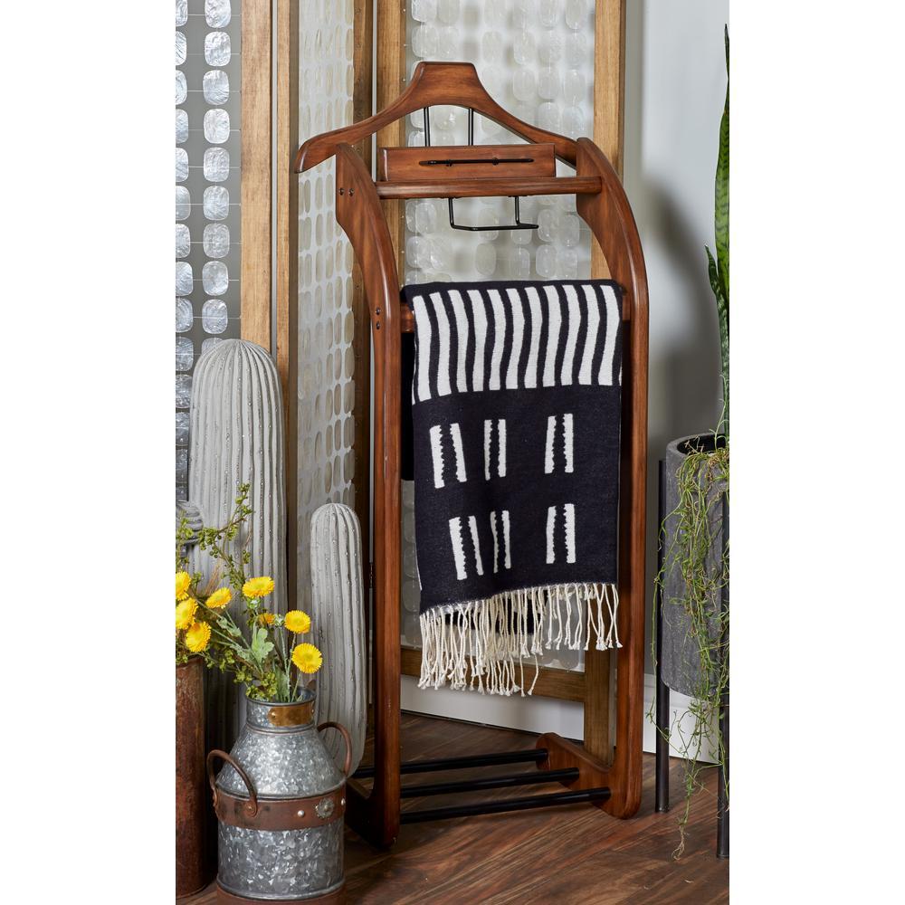 Brown Wooden Valet Rack