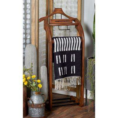 Brown Wooden Valet Rack