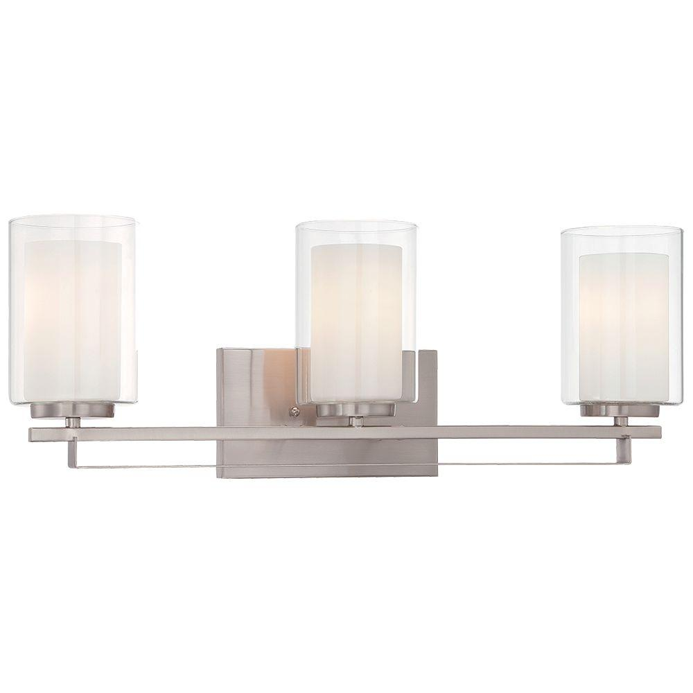 Minka Lavery Parsons Studio 3-Light Brushed Nickel Bath Light-6103-84 - The Home  Depot