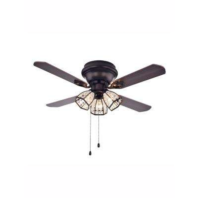 Turadur 42 in. Indoor Bronze Ceiling Fan with Light Kit