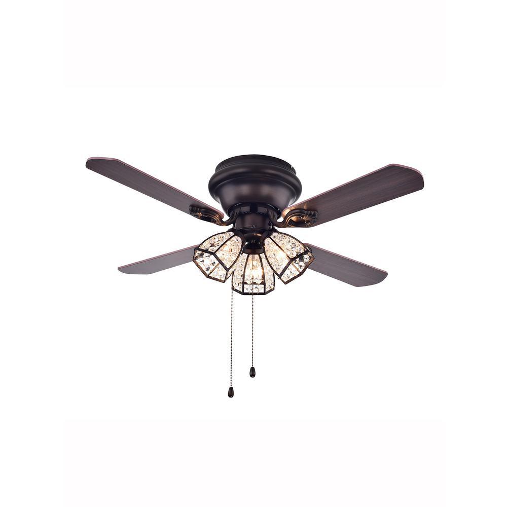 Indoor Bronze Ceiling Fan With Light Kit