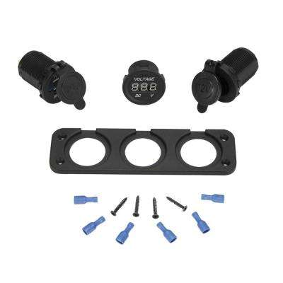 Marine Grade Mounting Plate Kit Front-Mount Plate
