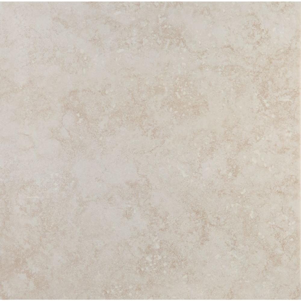 TrafficMASTER Cabos In X In Beige Ceramic Floor Tile - 16 x 16 white ceramic floor tile