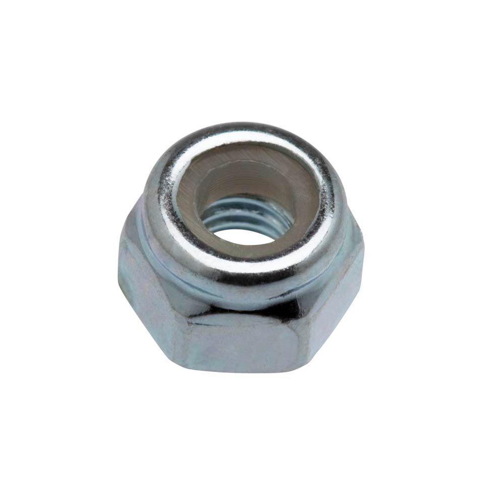 2-Pieces 6 mm-1.0 Zinc-Plated Metric Nylon Lock Nut
