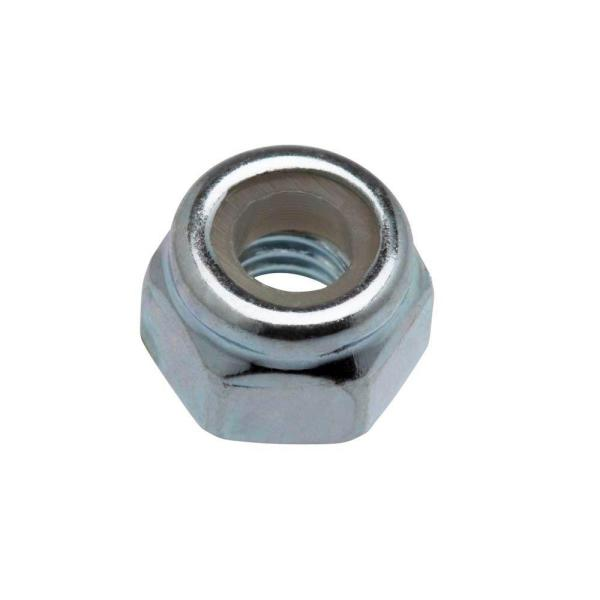 2-Pieces 6 mm-1.0 Zinc-Plated Metric Nylon Lock Nut