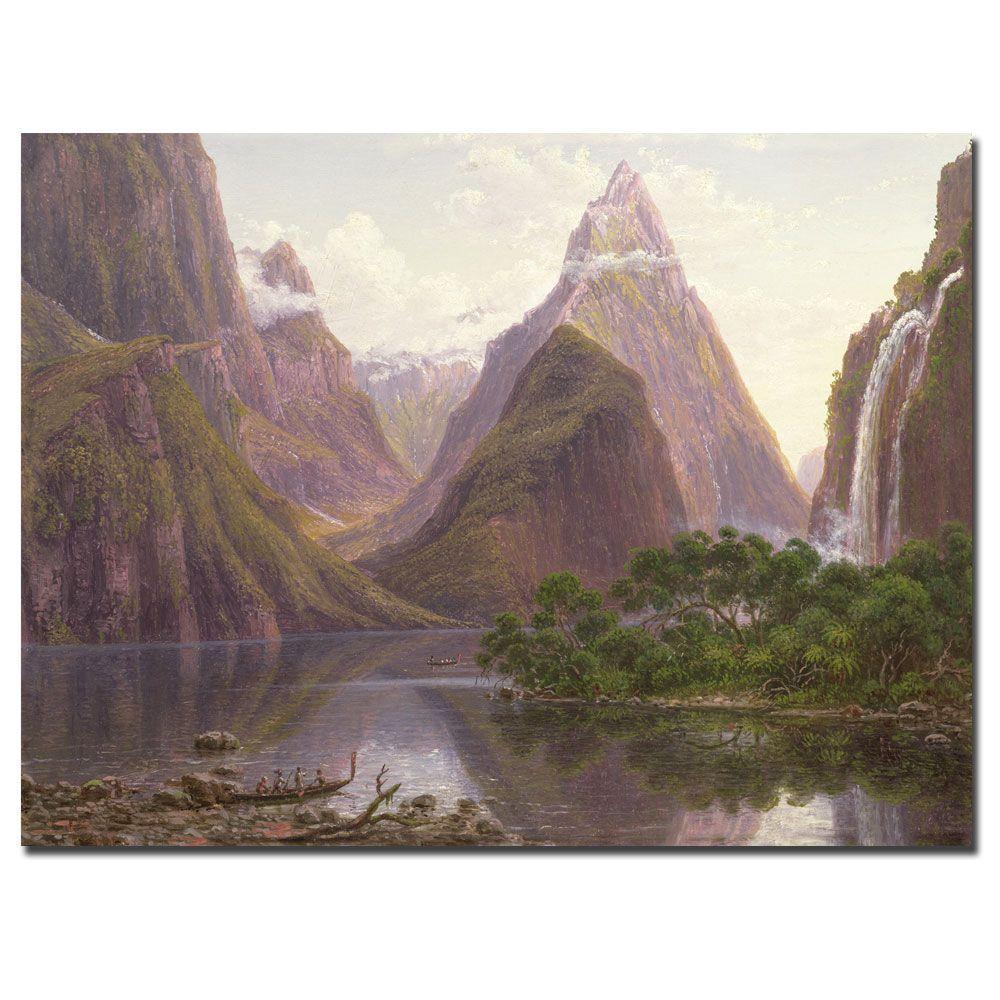 Trademark Fine Art 35 in. x 47 in. Milford Sound, New Zeland Canvas Art